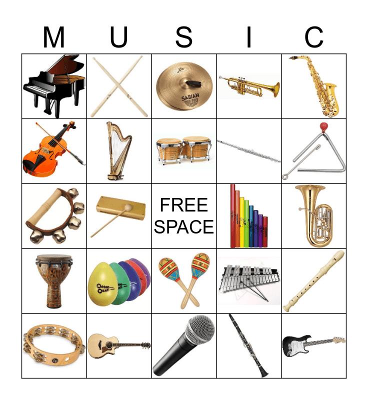 """MUSIC""  Bingo Card"