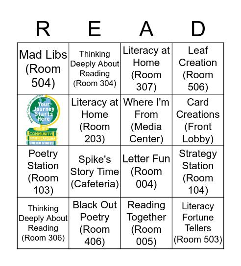 Literacy Night at Brushy Creek  Bingo Card