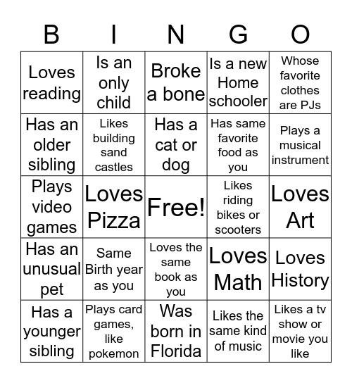 Sunshine Homeschooler Bingo Card
