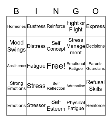 Feeling Good About Yourself Bingo Card