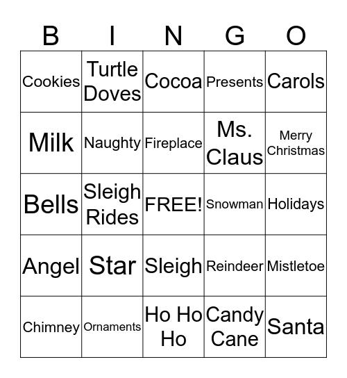 LEARN TO EARN'S HOLIDAY BINGO  Bingo Card