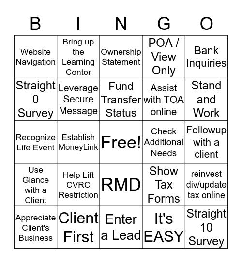 ESW1 Bingo Card