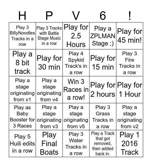 Hack Pack v6 Bingo! Bingo Card