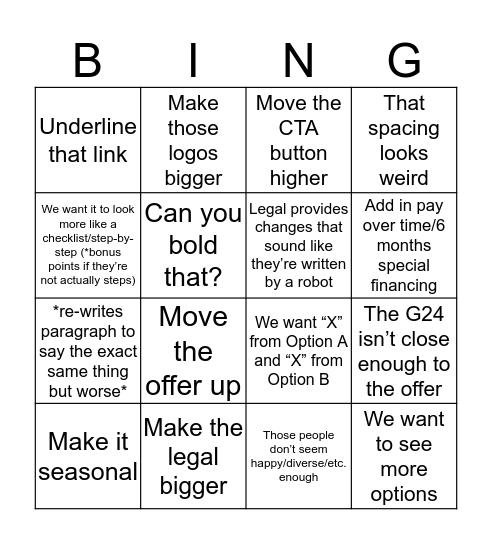 PPC Bingo Card
