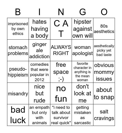 are you jessie??? Bingo Card