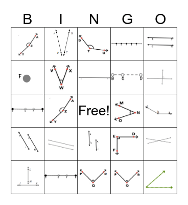 Geometry Bingo  Bingo Card