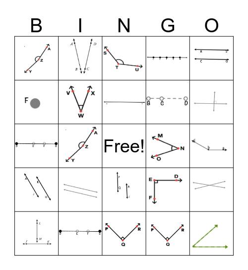 Geometry Bingo  Bingo Card