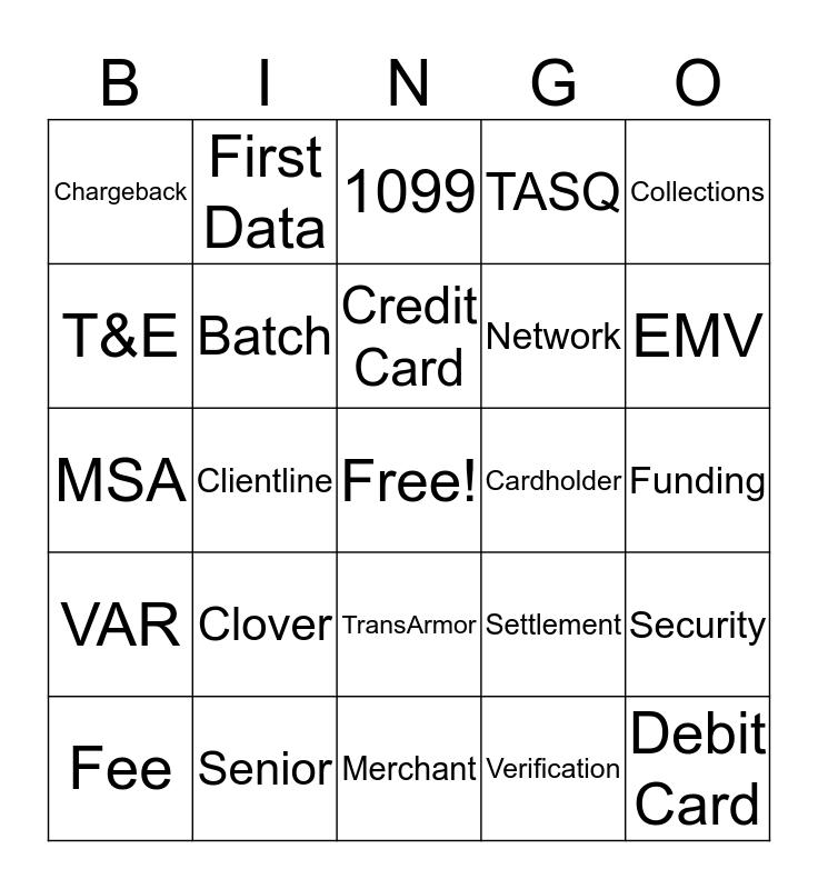 Client Support Specialist Bingo Card