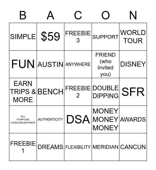 B.A.C.O.N. BINGO Card