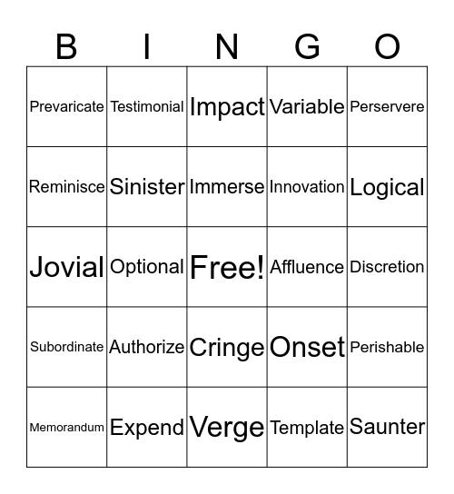 Units 7-9 Bingo!!! Bingo Card