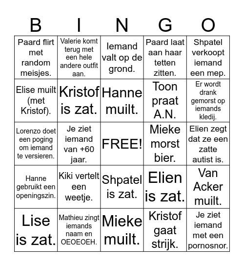Nieuwjaarsbingo! Bingo Card