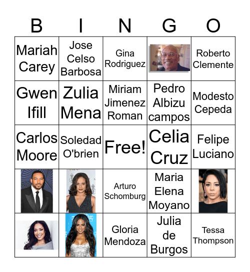 Afro-Latinx Bingo Card