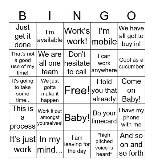 DT Bingo Card