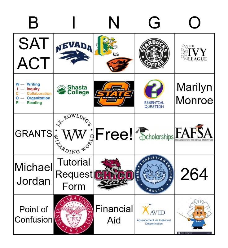 AVID JEOPARDY Bingo Card