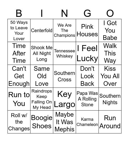Boondocks Brews, Beats & Bingo 3-10 Bingo Card