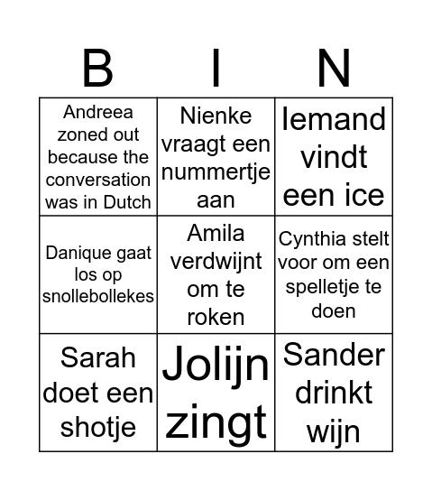 Teamweekend Bingo Card