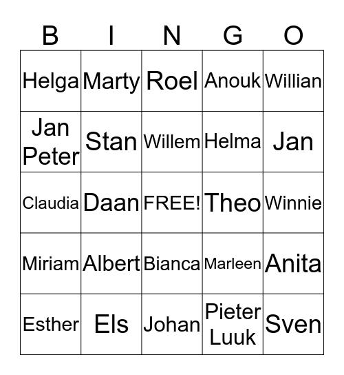 Ooievaarsweg Bingo Card