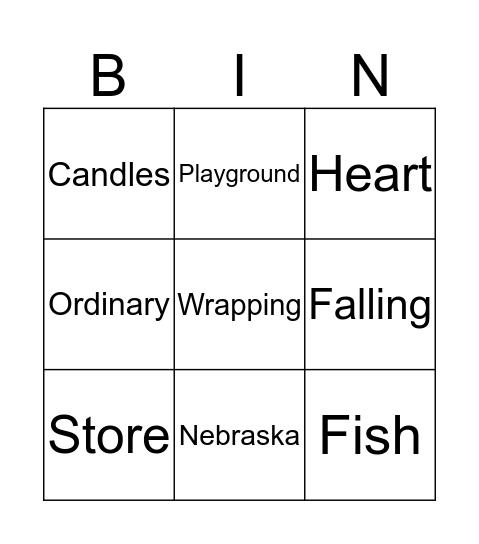 Savvy Bingo Card