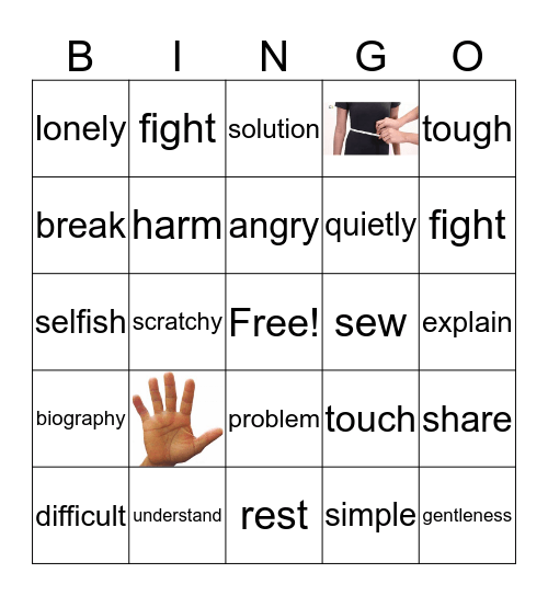 ELL VOCABULARY REVIEW Bingo Card