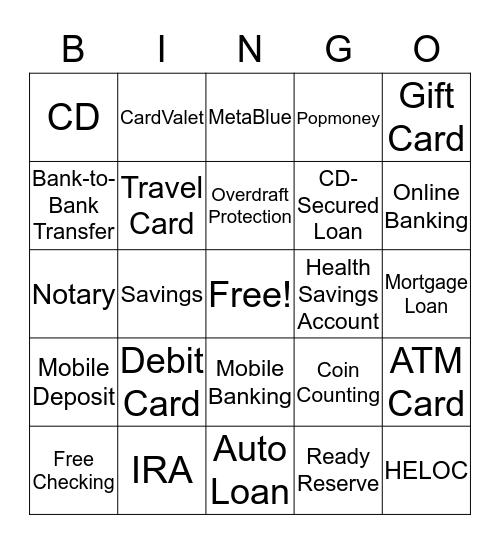 MetaBank Bingo Card