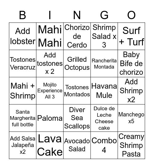 Monday - Thursday Bingo Card