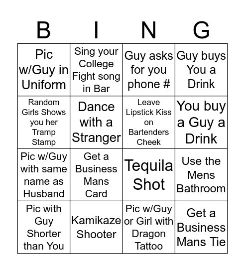 Moms Gone Wild 5 Bingo Card