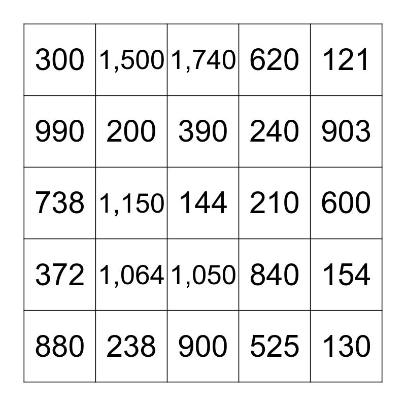 Double Digit Bingo! Bingo Card