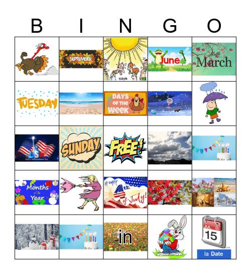 El calendario español Bingo Card