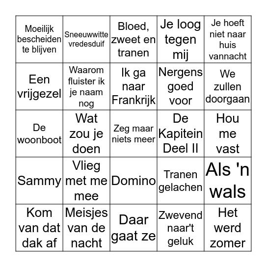 MUZIEK BINGO EESERVEEN Bingo Card