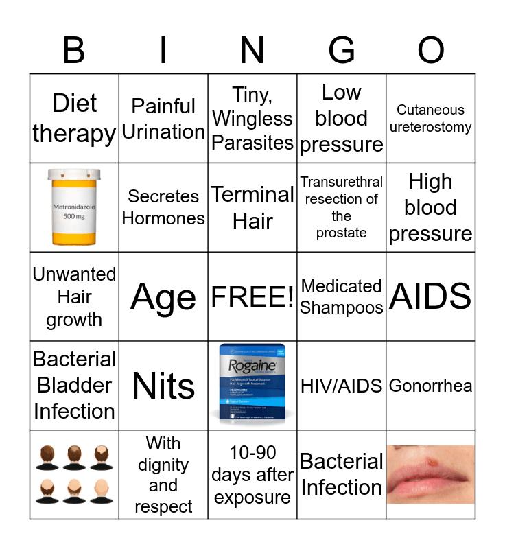 Skin, Reproduction, and Urinary fun! Bingo Card
