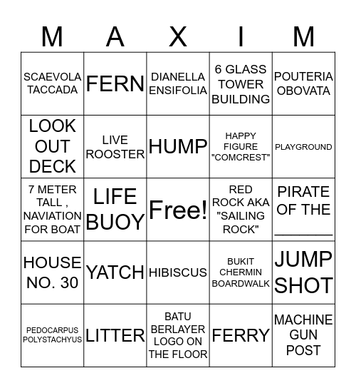 NATURE BINGO Card