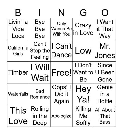 90's - Today Bingo Card