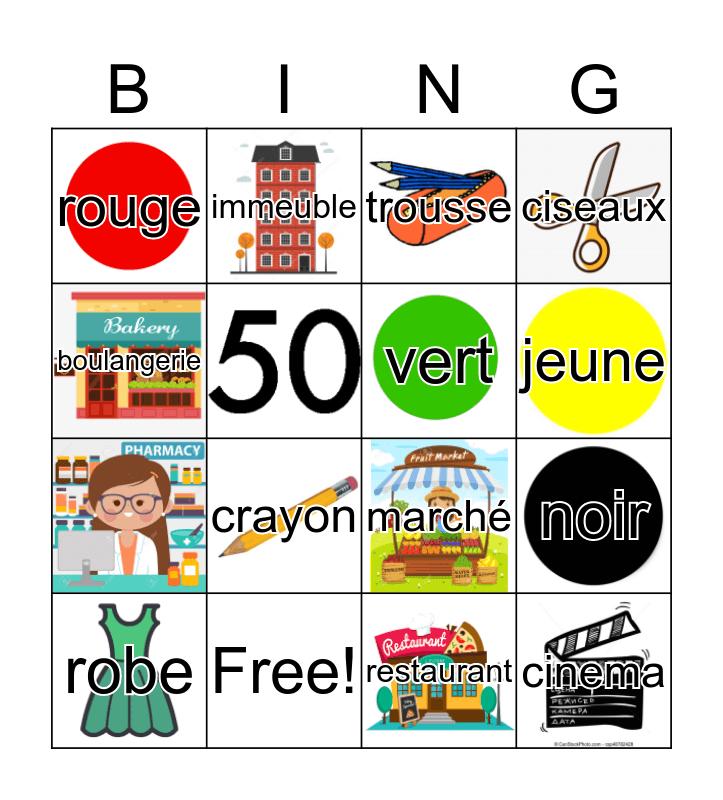Bingo Français Bingo Card