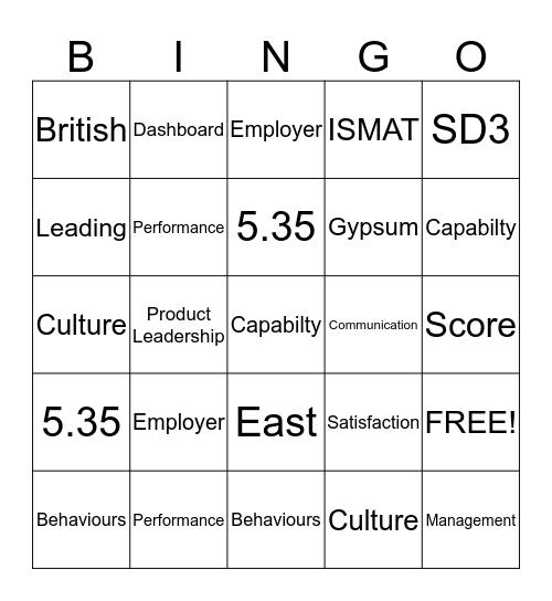 SD3 Bingo Card
