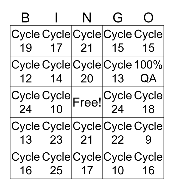 SAVE BINGO Card