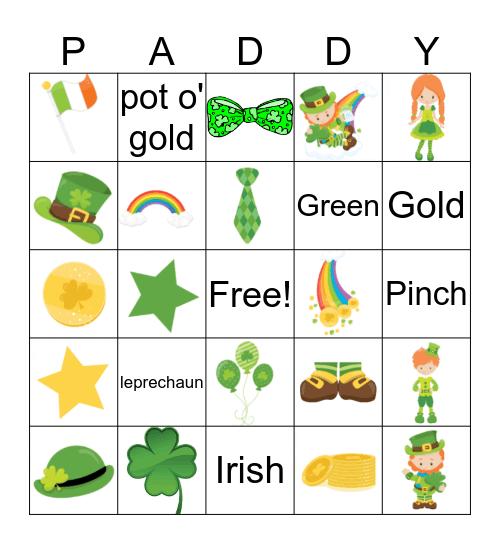 St. Patrick's Day 2019 Bingo Card