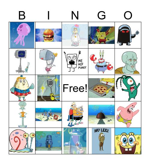 Spongebob Bingo Card