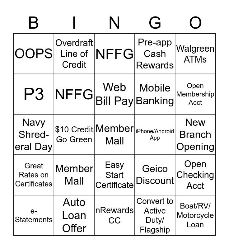 NFCU A&B Bingo Card