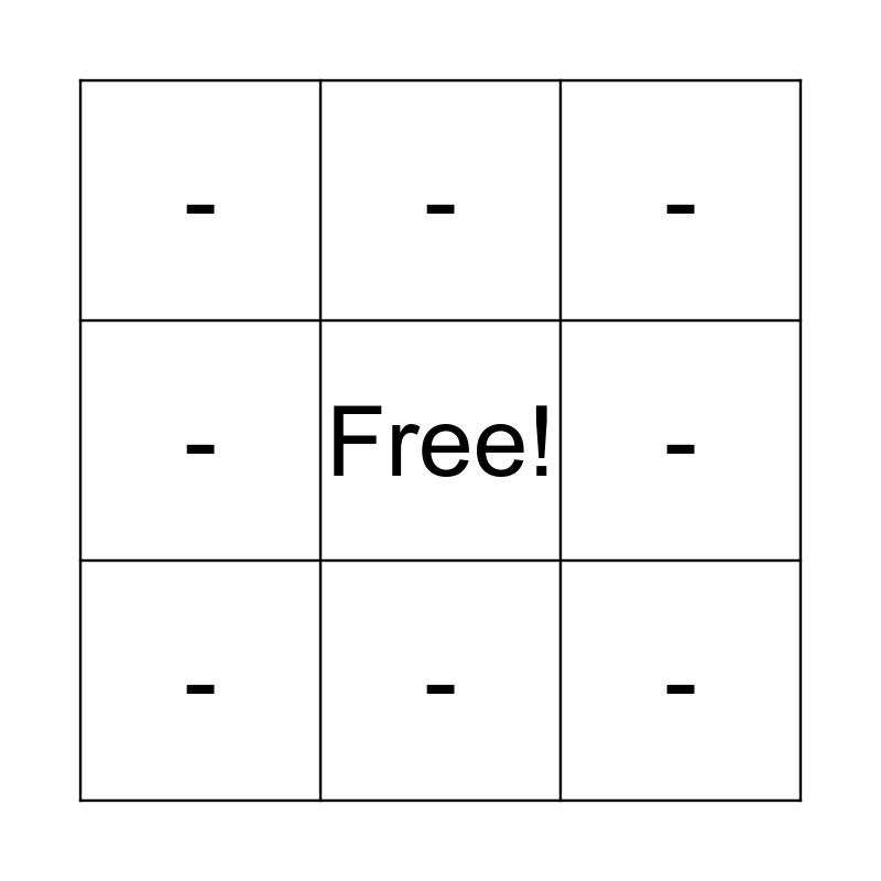 Double Angle Identities Bingo Card