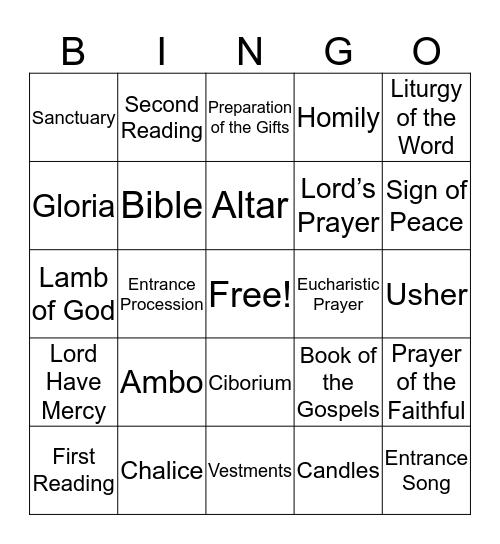 The Mass Bingo Card