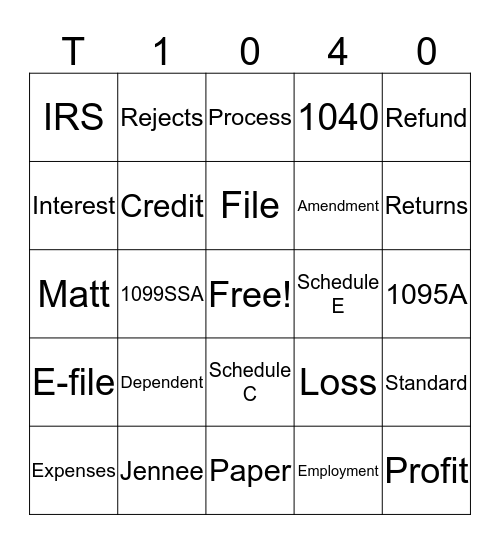 JH-INGO Bingo Card