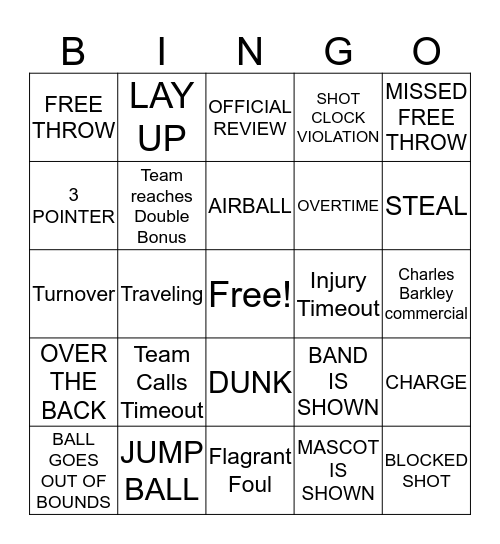 MARCH MADNESS! Bingo Card