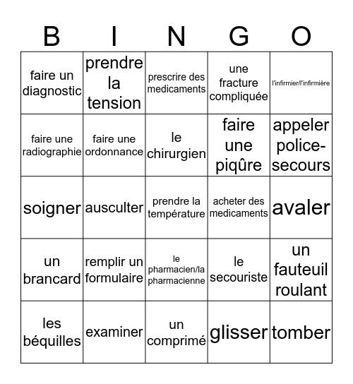 F2 - Loto - Chez le Docteur Bingo Card