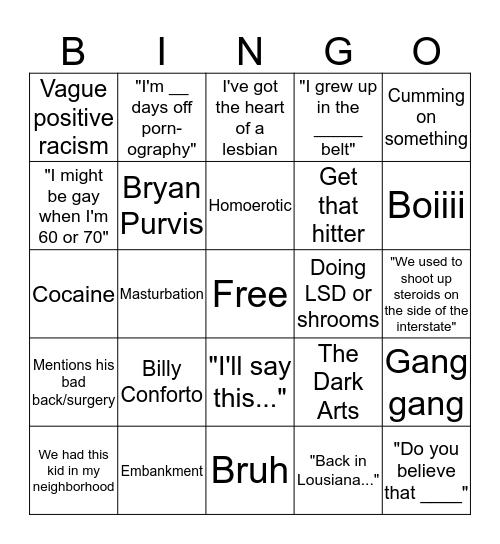 Theo Von Bingo Card
