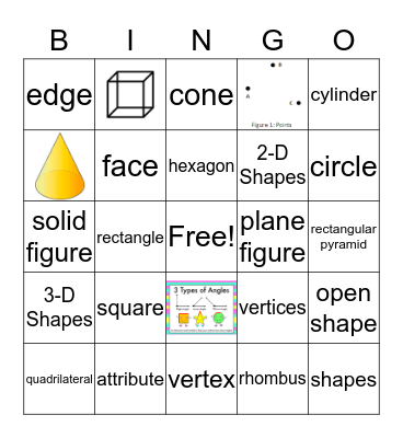 2nd Grade Shape Bingo Card