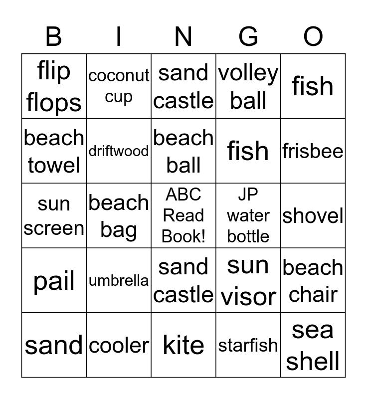 Bingo by the Sea! Bingo Card