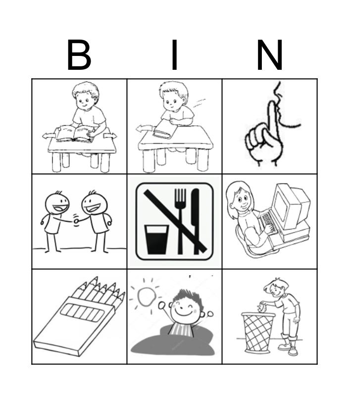 commands Bingo Card