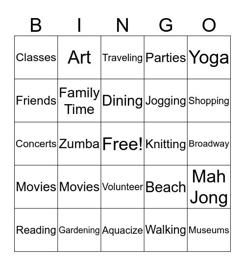 RETIREMENT IS GREAT ! Bingo Card