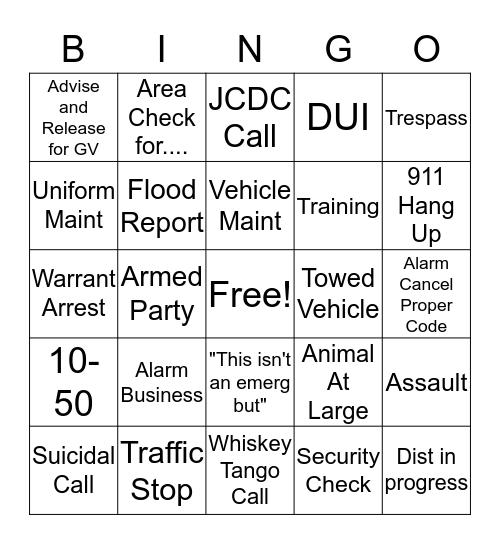 Dispatcher Appreciation Week 2019 Bingo Card