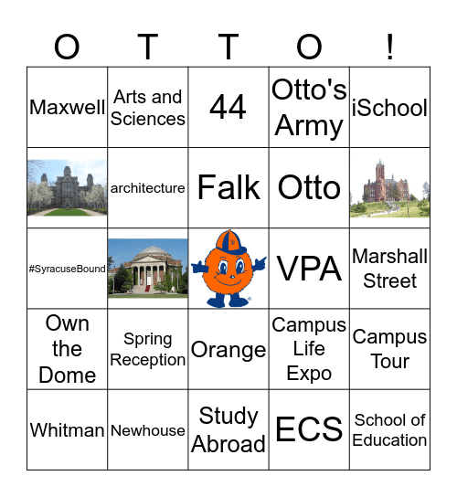 Office of Admissions Bingo! Bingo Card
